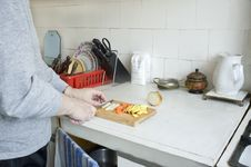 Free Preparation Of Vegetables On Kitchen Stock Photos - 18920473