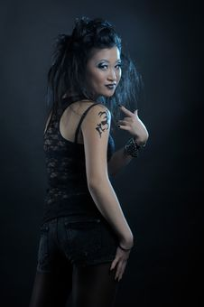 Free Gothic Asian Girl Stock Photo - 18920590