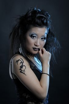 Free Gothic Asian Girl Stock Image - 18920601