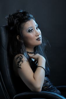 Free Gothic Asian Girl Royalty Free Stock Photos - 18920608