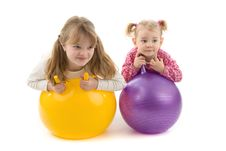 Babies With Ball Stock Photography