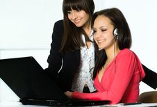 Free Girls Working In The Office Stock Photography - 18921192