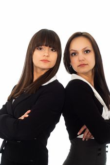 Free Girls In A Black Business Suit Stock Image - 18921241