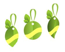 Green Tags, Cdr Vector Royalty Free Stock Image