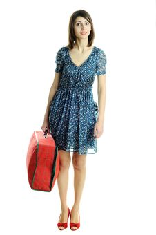 Woman With A Bag Royalty Free Stock Image