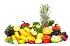 Free Fruits On White Royalty Free Stock Photography - 18922667
