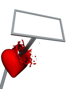 Free White Blank Allu Pierce Liquid Heart Stock Images - 18923114