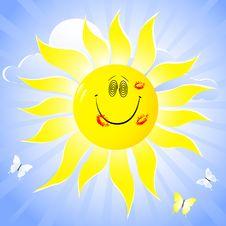 Free Smiling Sun. Stock Image - 18923741