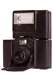 Vintage Folding Camera 35mm Stock Image