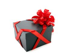 Free Gift Box With A Red Bow Royalty Free Stock Image - 18923966