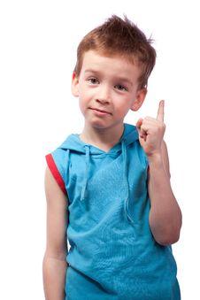 Free Preschooler In Blue Shirt Stock Image - 18924311