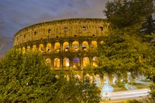 Free Colosseum At Night, Rome Royalty Free Stock Photos - 18924528