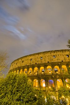 Free Colosseum At Night, Rome Royalty Free Stock Photo - 18924535