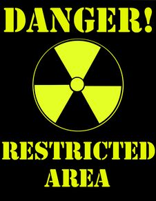 Nuclear Warning Sign Royalty Free Stock Photo