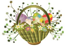 Free Easter Basket Royalty Free Stock Photo - 18924705