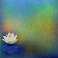 Free Abstract Floral Illustration With Lotus On Green Stock Photo - 18925010