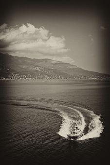 Free Ship Wake, Corsica Royalty Free Stock Images - 18925209