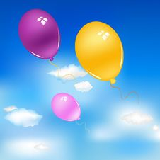 Free Balloons In Sky Stock Images - 18925374