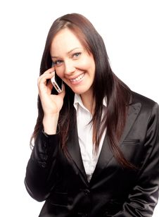 Free Business Woman Talking On The Phone Royalty Free Stock Images - 18925819