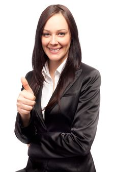 Free Attractive Young Woman With Thumb Up Royalty Free Stock Photography - 18925937