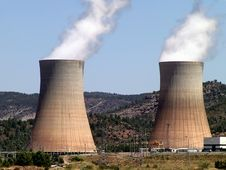 Nuclear Power Plant In Operation Royalty Free Stock Photography