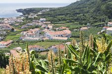 Small Village Azores Stock Photo