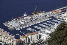 Marina Seen From Above Stock Photography