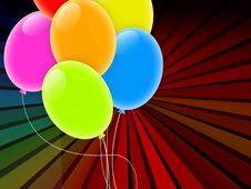 Free Holiday Background With Multicolored Balloons Royalty Free Stock Image - 18928776