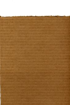 Free Corrugated Cardboard With Ripped Top Edge Royalty Free Stock Photography - 18929107