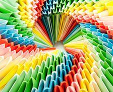 Bright Rainbow Modular Origami Close Royalty Free Stock Photos
