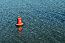 Free Buoy On The Water Surface For Safe Navigation Stock Photo - 18929500