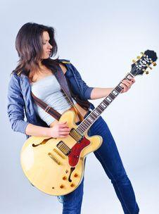 Free Guitar Girl Stock Photos - 18929683