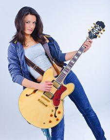 Guitar Girl Royalty Free Stock Photo
