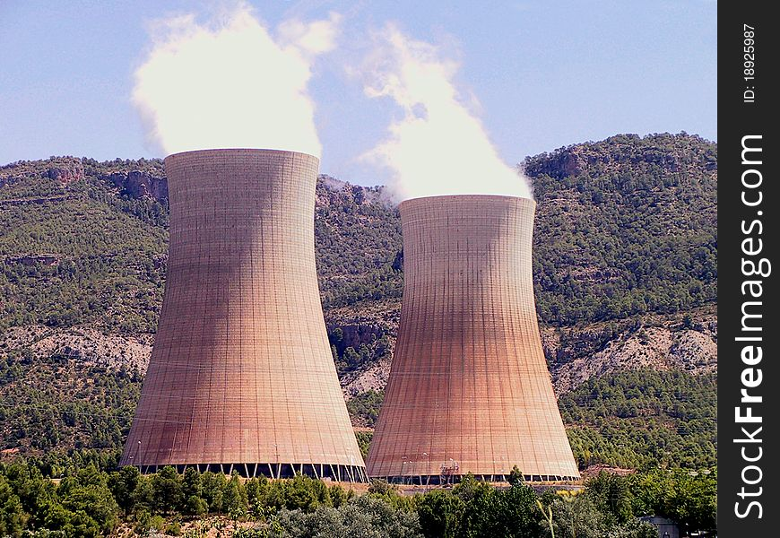 Nuclear power plant in operation
