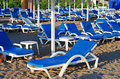 Free Beach With Lot Of Chair Without People Stock Image - 18933511
