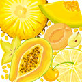 Free Mix Yellow Fruits And Berries Stock Photography - 18934572