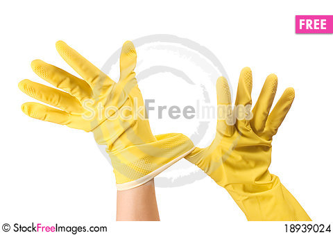 Free Hand In Glove Isolated Over White Stock Images - 18939024