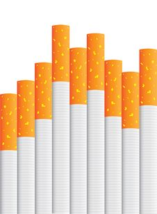 Free Isolated Cigarettes Royalty Free Stock Images - 18930439
