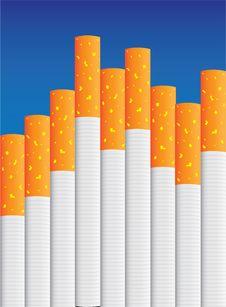 Free Isolated Cigarettes Royalty Free Stock Image - 18930446