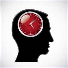 Free Clocks In Head Royalty Free Stock Photo - 18930455