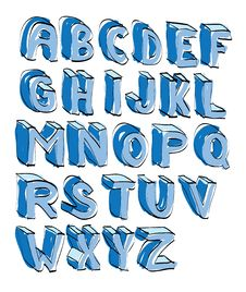 Cartoon Alphabet Royalty Free Stock Photo