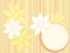 Free Vector Flower Card Royalty Free Stock Photography - 18930787