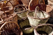 Free Wicker Baskets Royalty Free Stock Images - 18930899
