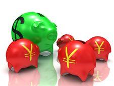 Free Dollar Vs Yens Stock Photos - 18931413