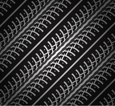 Free Repeating Tire Tracks Stock Photography - 18931442