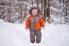 Free Adorable Baby Going Through Deep Forest Royalty Free Stock Images - 18931459