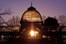 Palacio De Cristal In Retiro City Park, Madrid Stock Photos