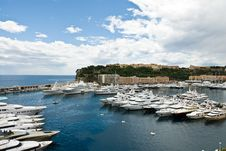 Free Monaco Seaport Scenery Royalty Free Stock Photo - 18931805