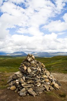 Stone Pyramid, Norway Royalty Free Stock Photo