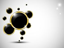 Free Black Bubbles With, Gold Bordered Stock Images - 18932794